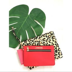 Rampage wristlet clutch bag 2 piece set